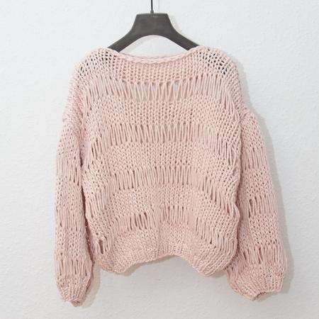 Maiami Dropstitch Big Sweater - Creme
