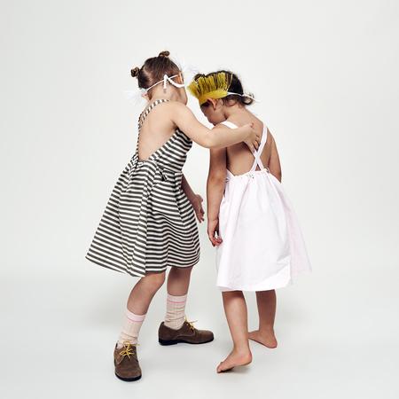 Kids macarons DRESS DELIA - earlgrey meringue