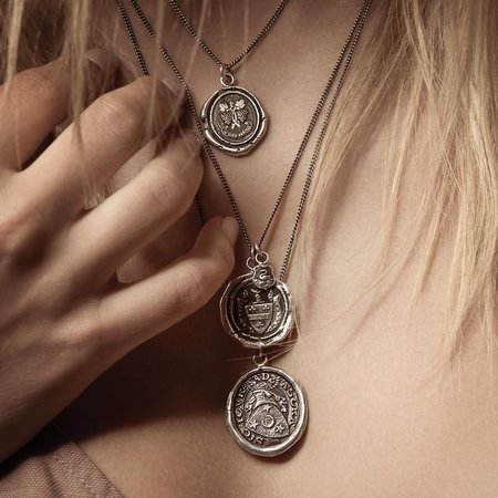 Pyrrha In Wine There is Truth Talisman - Silver
