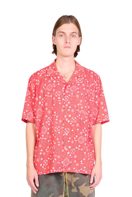 rhude bandana hawaiian shirt - red