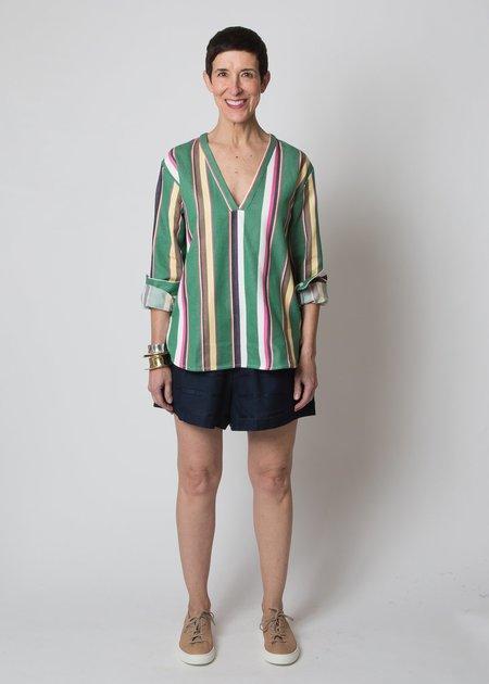 SBJ Austin Carol Top - Green Stripe