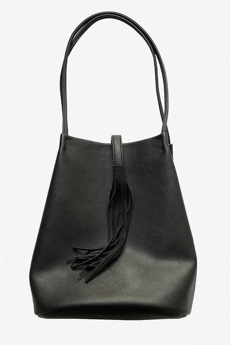Street Level Faux Leather Tassel Shoulder Bag