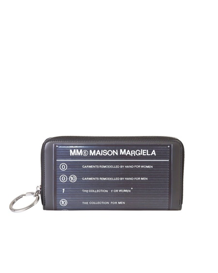 MM6 Maison Margiela Directory Print Long Zip Wallet
