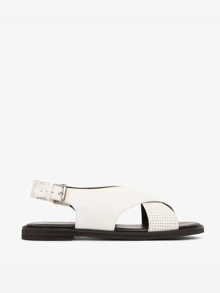 Matt & Nat Criss-cross Strap Villeray Sandal - White
