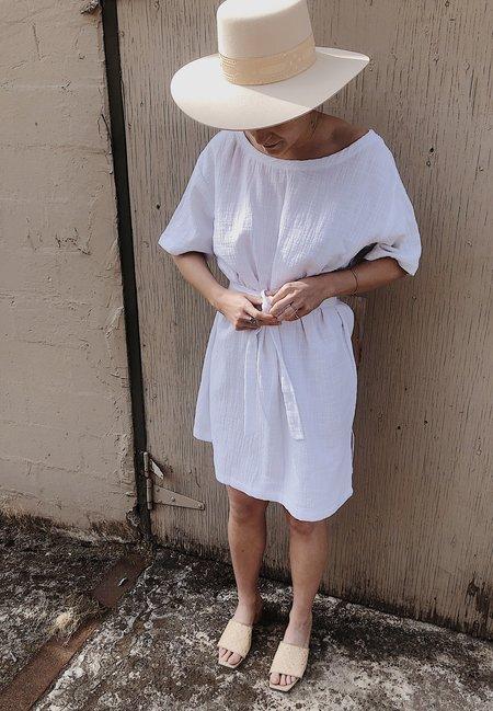 BAHHGOOSE TEE SHIRT DRESS - white