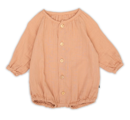 kids Monkind Puff Overall - Apricot