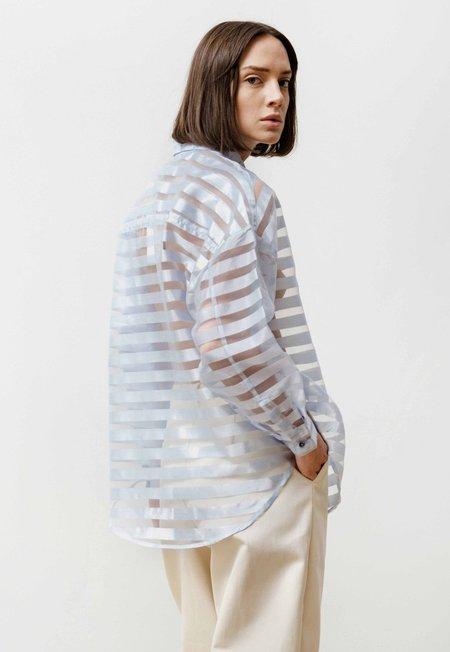 Priory Manga Shirt See Through Stripes Shirt - Baby Blue