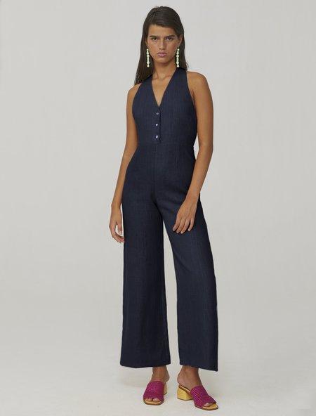 Paloma Wool Beirut linen jumpsuit - navy