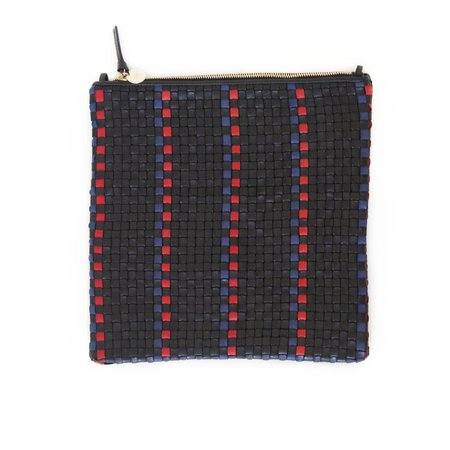 Clare V. Foldover Clutch with Tabs - Black
