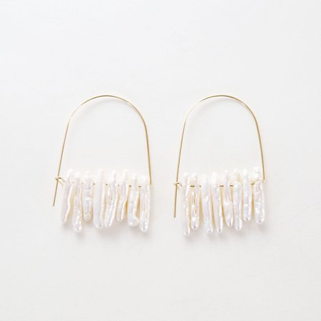 Mau Bam Bam fringe earrings - 14K Gold
