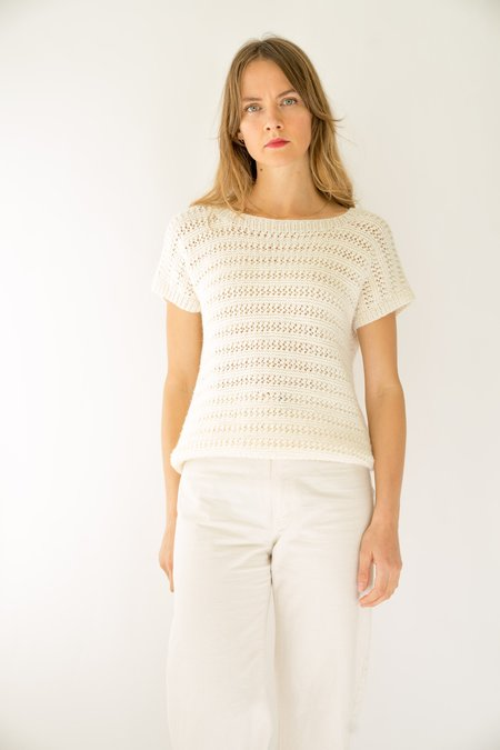 Backtalk PDX Vintage Crochet Top - cream