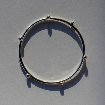 COSMIC TWIN Studded Bangle - sterling silver