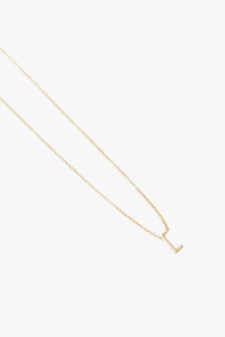 Gabriela Artigas Single Initial Necklace L - 14k gold