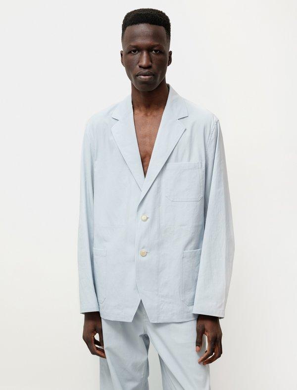 Auralee Finx Hard Twist Gabardine Jacket - Light Blue