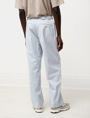 Auralee Finx Hard Twist Gabardine Pants - Light Blue
