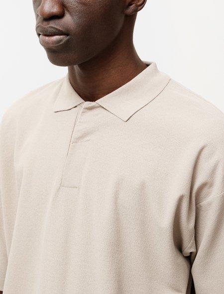 Auralee Hard Twist Amunzen Double Cloth Polo - Beige