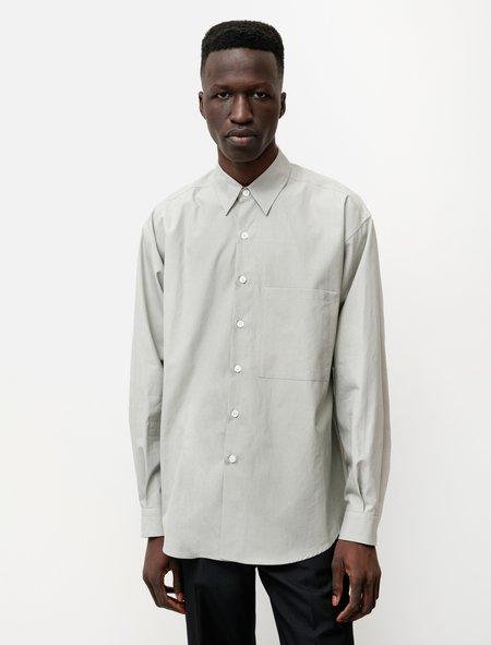 Auralee Washed Finx Twill Big Shirt - Light Green