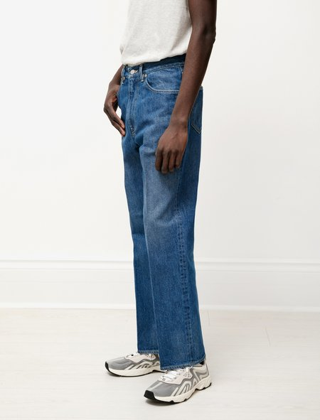Auralee Washed Hard Twist Denim 5P Pants - Light Indigo