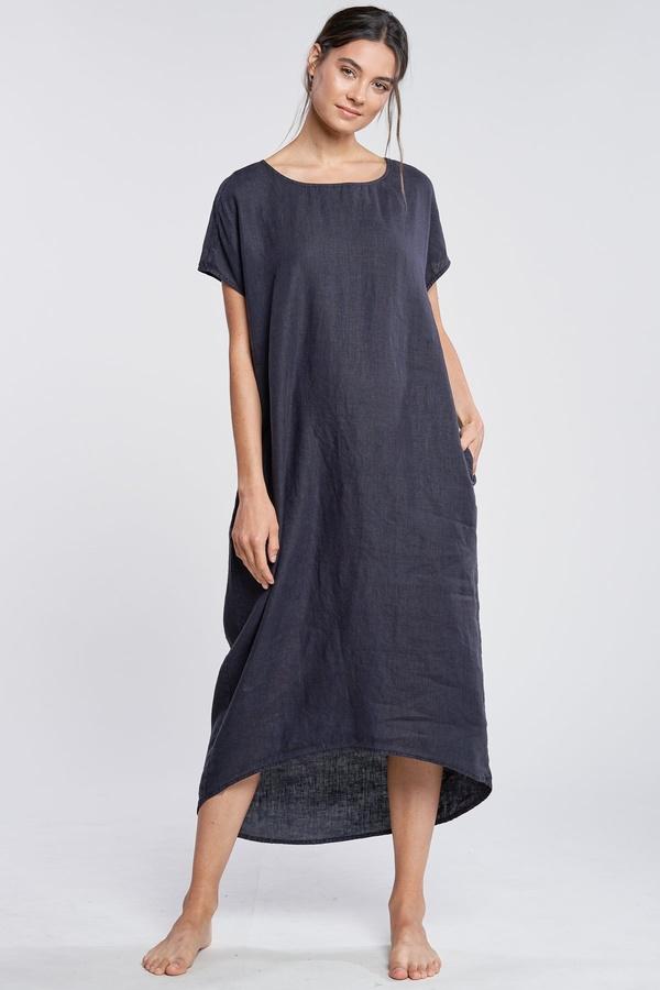 Filosofia Wide Neck Brooke Dress - Ink