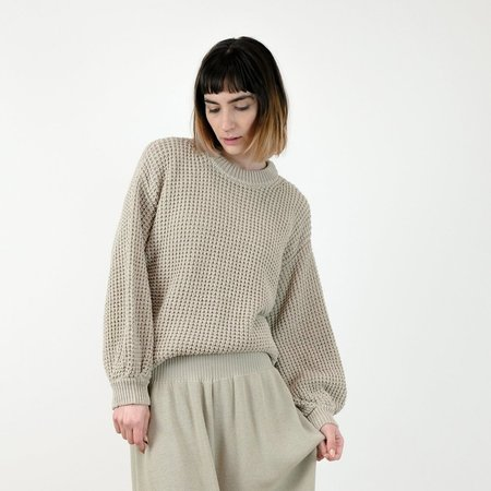 Micaela Greg Waffle Sweater in Aloe