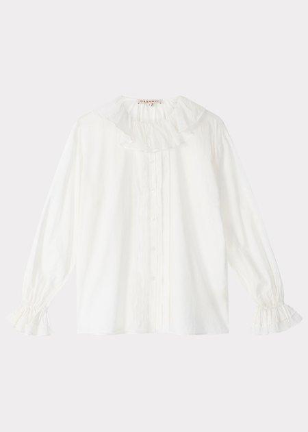 Caramel Frill Shirt - White