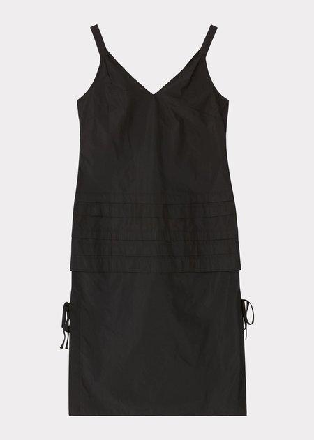 Caramel Tuck Dress - Black