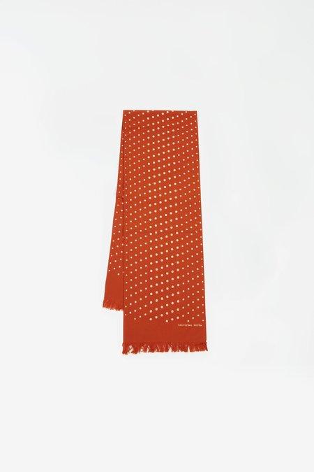 Universal Works Short scarf - dot print orange