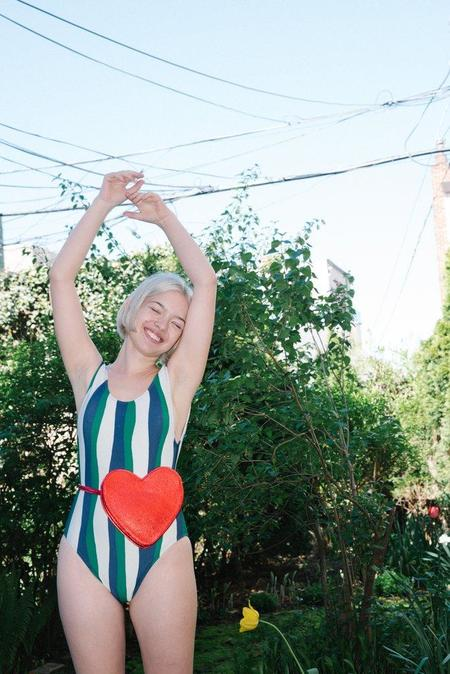 Whit NY Uno Swimsuit - Wavy Stripe