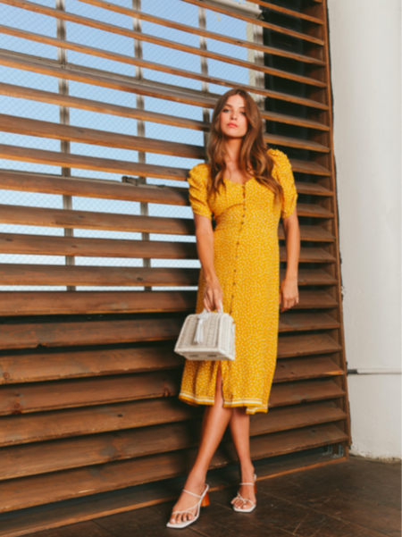 Cleobella AMARILIS MIDI DRESS - Yellow