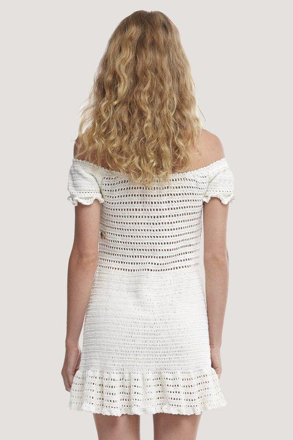 SHE MADE ME Inika Crochet Dress - Natural
