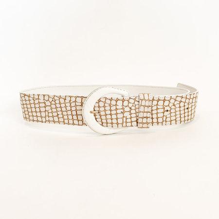 Crescioni spur belt - white pebble