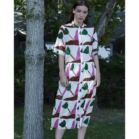 WHiT Lillian Dress in Wayne Pate Tulips Print