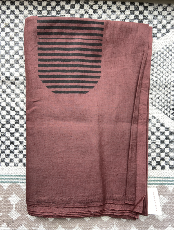 Kesslyr Dean Agnes Block Print Linen Throw