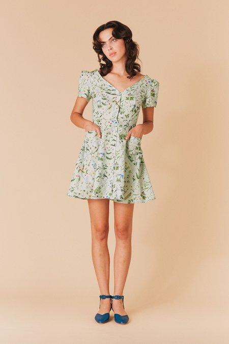 Samantha Pleet Dress - Flora