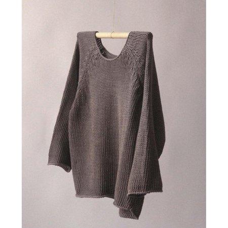 Nido Crop Raglan - Warm Grey