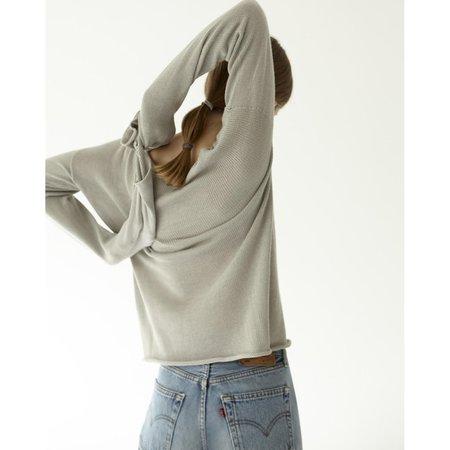Nido Long Sleeve Silk T Shirt - Grey