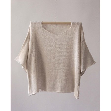 Nido T Shirt Lino - Natural