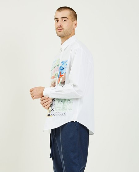 THE MUSEUM VISITOR Multi Color Pocket Shirt - white