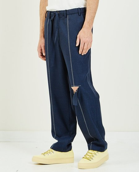 THE MUSEUM VISITOR Torned Pants - Navy