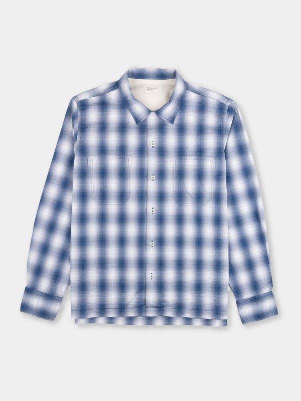 Universal Works Garage Shirt II - Navy Pepper Cotton