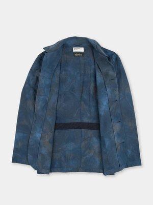 Universal Works Norfolk Bakers Jacket Suiting - Blue Space Dye