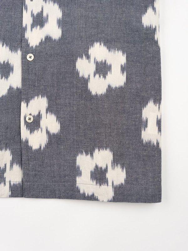 Universal Works Road Shirt - Grey Ikat Flower