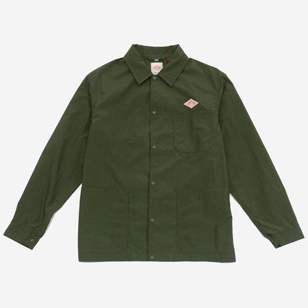 Danton Nylon Taffeta Jacket - Khaki Green