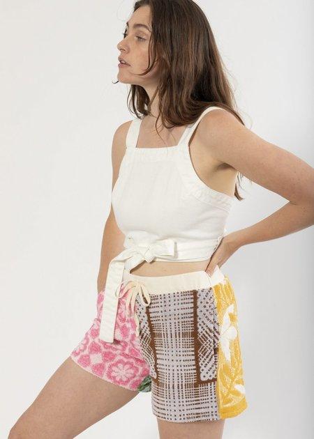 Carleen Louise Wrap Top - White Denim