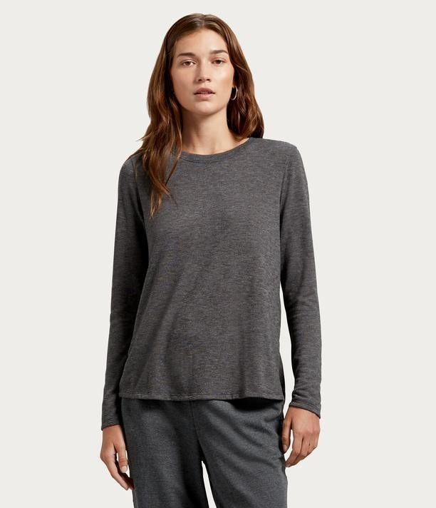 Choose SZ//color Details about  /Michael Stars Women/'s Jayda Crew Neck Top with Bac