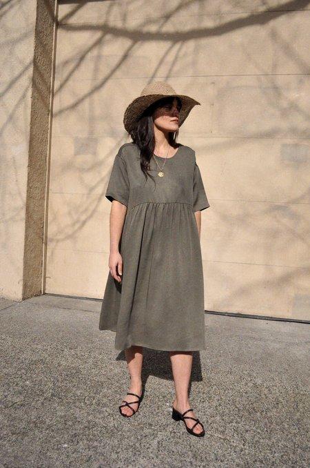 Rita Row Bianca Dress - Khaki Green
