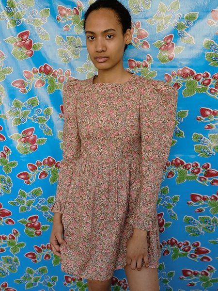 BATSHEVA Square Neck Mini Dress - Dusty Rose Floral