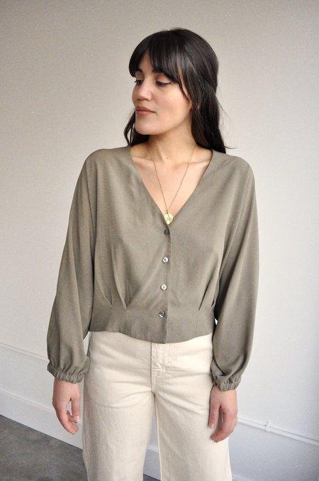 Rita Row Rosette Shirt - Topo