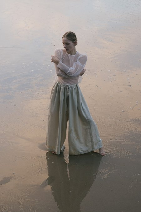 Revisited Silk Cotton Pants - Natural