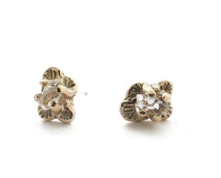 Siri Hansdotter floral studs - gold vermeil